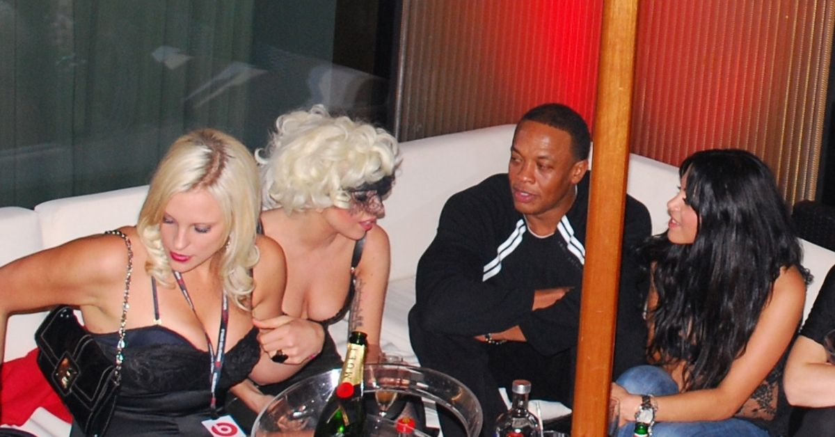 Dr. Dre at a party with Lady Gaga