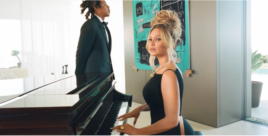 Beyoncé and JAY-Z (The Carters)for the Tiffany & Co. fall 2021 ABOUT LOVE campaign