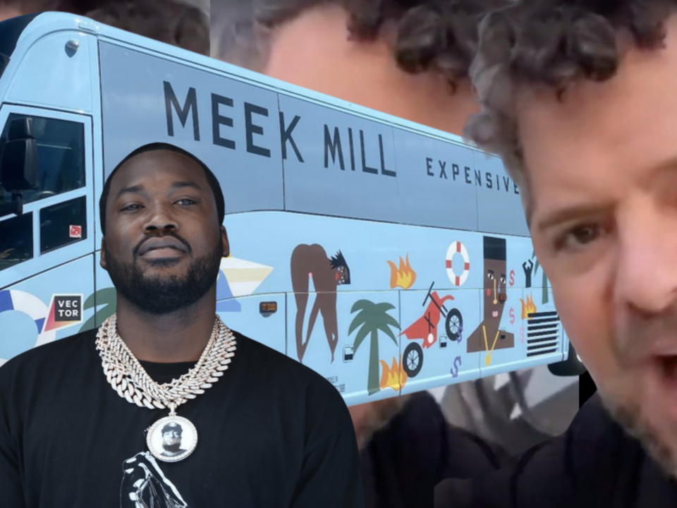 Meek Mill And Crazy Father Bus Man